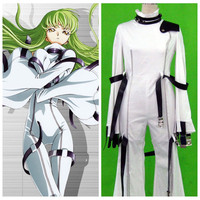 2018 free ship brand new Code Geass Anime Manga C.C 1st Kids Halloween Cosplay Costume Customize for plus size adults and kids