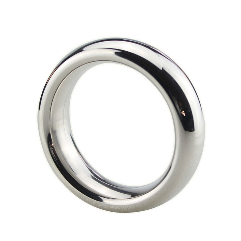 Stainless Steel Big Penis Rings Large Cock Ring Locking Metal Sex Toys Adult Game Sex Products for Men Couples Chastity Device