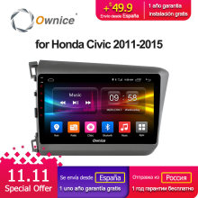 Ownice C500+ G10 Android 8.1 Eight Octa Core 2GB RAM For HONDA CIVIC 2011 – 2015 Car Radio Navi GPS player Support dvd DAB+ 4G