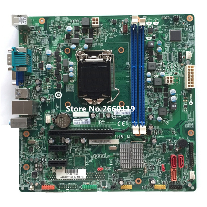 High quality desktop motherboard for M73 M93p IH81M V1.0 03T7169 03T7201 Fully tested high quality desktop motherboard for m57