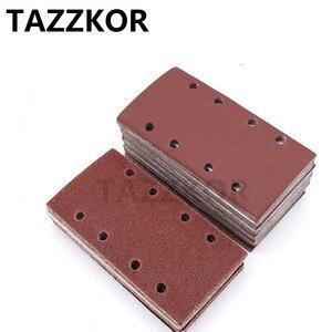 Image 5 - Square Sandpaper Grit Flocking Sand Paper Special Shaped Disc Abrasive Stone Glass Grinder For Wood Polish Tools 93x185mm 10pcs