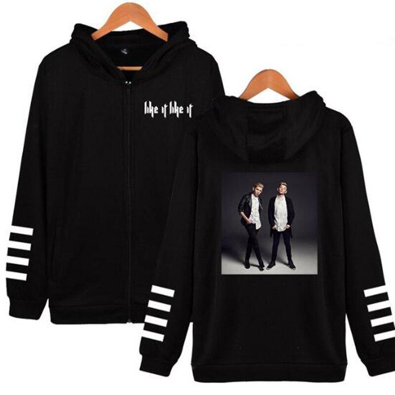 Marcus and Martinus Men/Women Hoodies Sweatshirts Warm Kpop Zipper Outerwear Plus Size Hooded Coat Casual Harajuku Jacket Femme