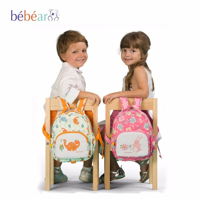 2017 Bebear children school bags with Animal Prints Diaper Bag with Fashion style backpack Parent-child package baby Handbag