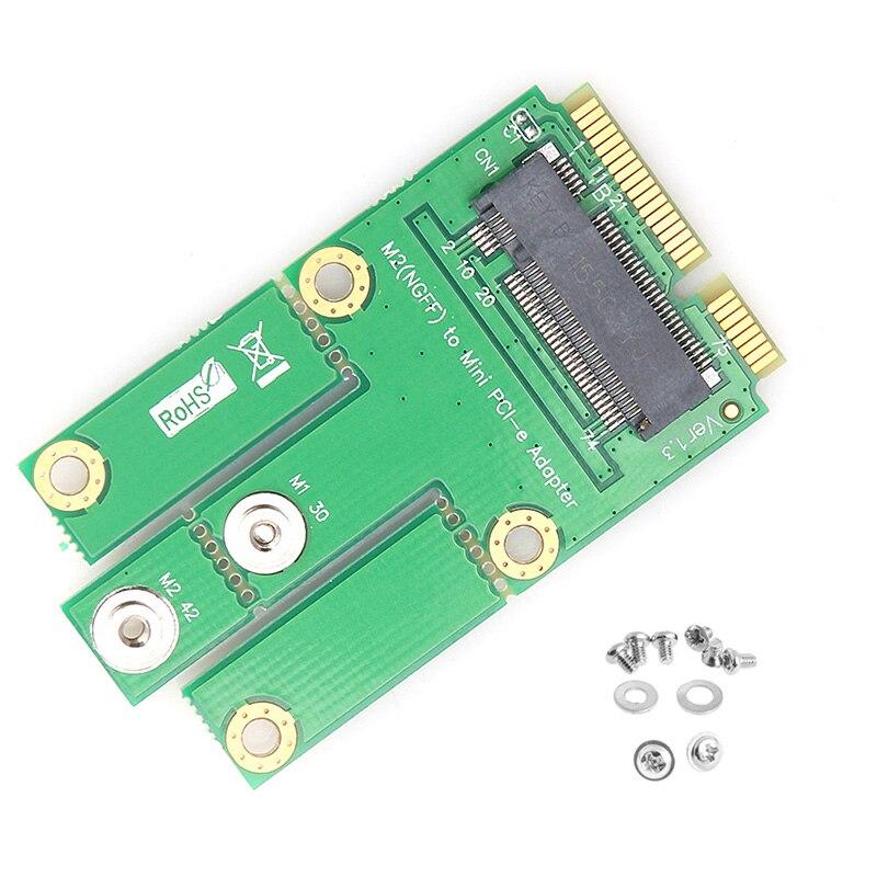 <font><b>Bluetooth</b></font> 4.0 M.2 NGFF E Key to Mini PCI-E Wireless Network Card <font><b>Adapter</b></font> WIFI