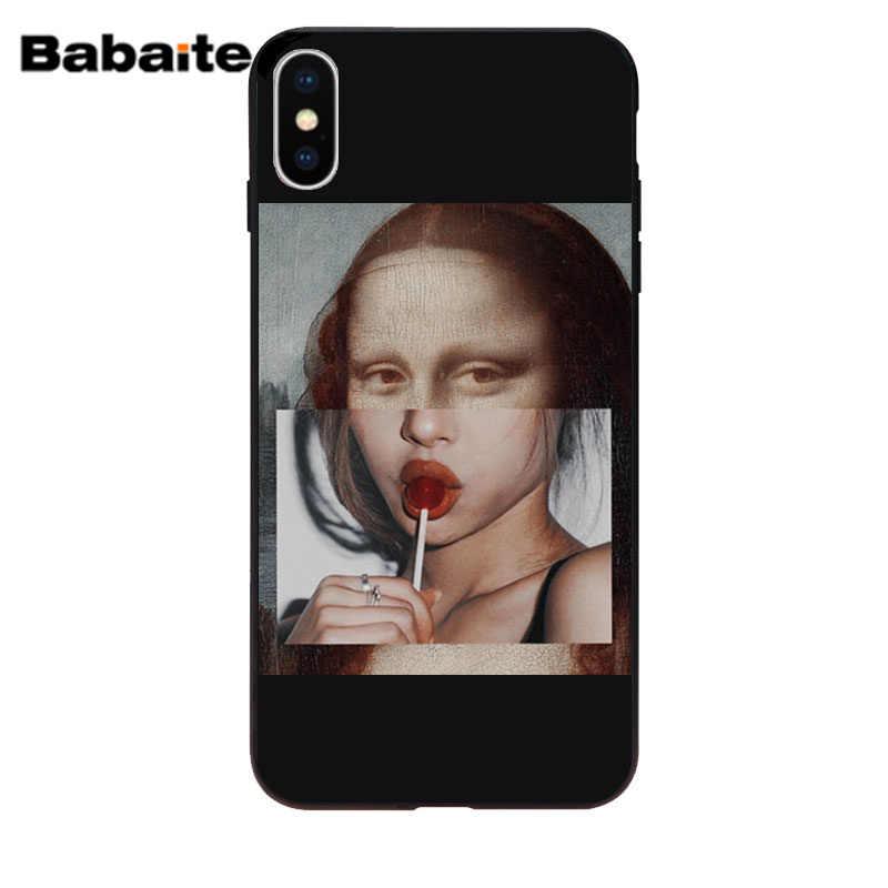 สำหรับ iphone x กรณี Mona Lisa Art David เส้นซิลิโคนโทรศัพท์กรณีครอบคลุมสำหรับ Apple iphone 5 5 S SE 6 6 s 7 8 Plus XR XS Max