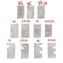 10 قطعة ل فون 5 5 S 5C 6 7 8 زائد شاشة LCD حامل معدني الداخلية لوحة عرض درع حامي حامي غطاء قوس جزء