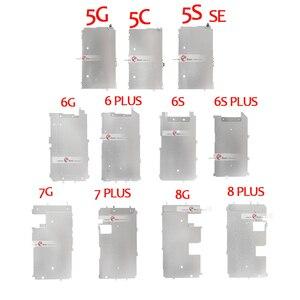 Image 1 - 10 adet iPhone 5 5 S Için 5C 6 7 8 ARTı LCD Ekran Tutucu Iç Metal Plaka Ekran Kalkanı arka plaka Koruyucu Kapak Braketi Parçası