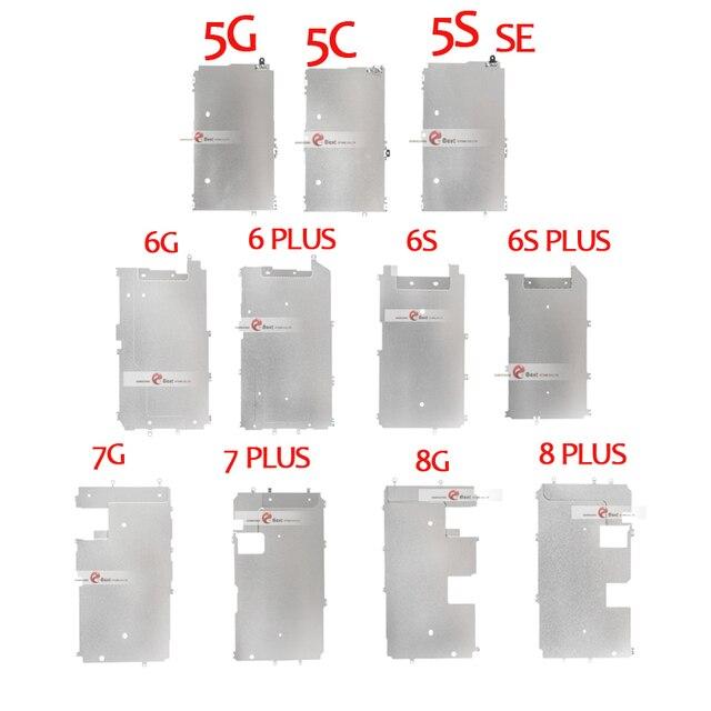 10 adet iPhone 5 5 S Için 5C 6 7 8 ARTı LCD Ekran Tutucu Iç Metal Plaka Ekran Kalkanı arka plaka Koruyucu Kapak Braketi Parçası
