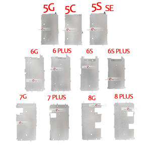 Image 1 - 10pcs For iPhone 5 5S 5C 6 7 8 PLUS LCD Screen Holder Inner Metal Plate Display Shield Backplate Protector Cover Bracket  Part