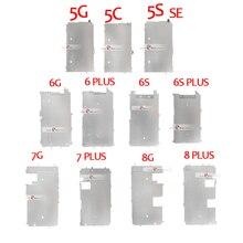 Soporte de pantalla LCD para iPhone 5, 5S, 5C, 6, 7, 8 PLUS, placa interior de Metal, Protector de placa trasera, pieza de soporte, 10 Uds.