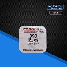 Renata – batterie de montre à oxyde d'argent, 1 paquet, 390 SR1130SW 1130 1.55V 100%, marque d'origine, renata 390, renata 1130