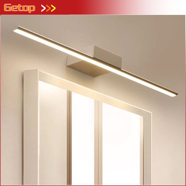 eenvoudige moderne led spiegel wandlamp badkamer spiegelkast verlichting waterdicht anti condens lampen nordic badkamer lichten