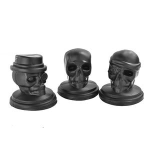 WOWCC 1 шт., силиконовая форма для кубиков льда в форме головы черепа, для виски, коктейлей, для льда, большой кубик льда, инструмент