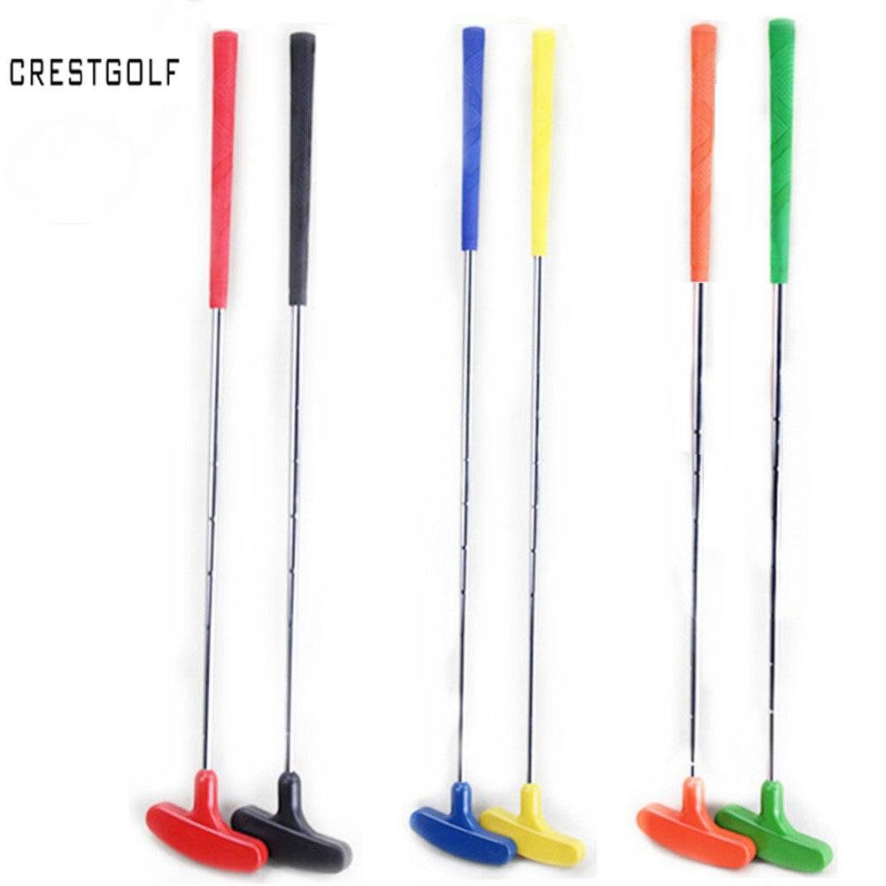 6 個ミニゴルフパターゴルフクラブゴムパターヘッド & スチールシャフト、 clubes デゴルフ 6 色、カスタムサイズ  グループ上の スポーツ & エンターテイメント からの ゴルフクラブ の中 1