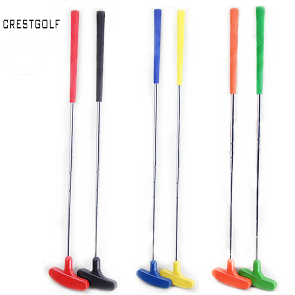 6pcs Mini Golf Putters Golf Clubs With Rubber Putter Head & Steel Shaft, Clubes De Golf 6 Colors, Custom Size
