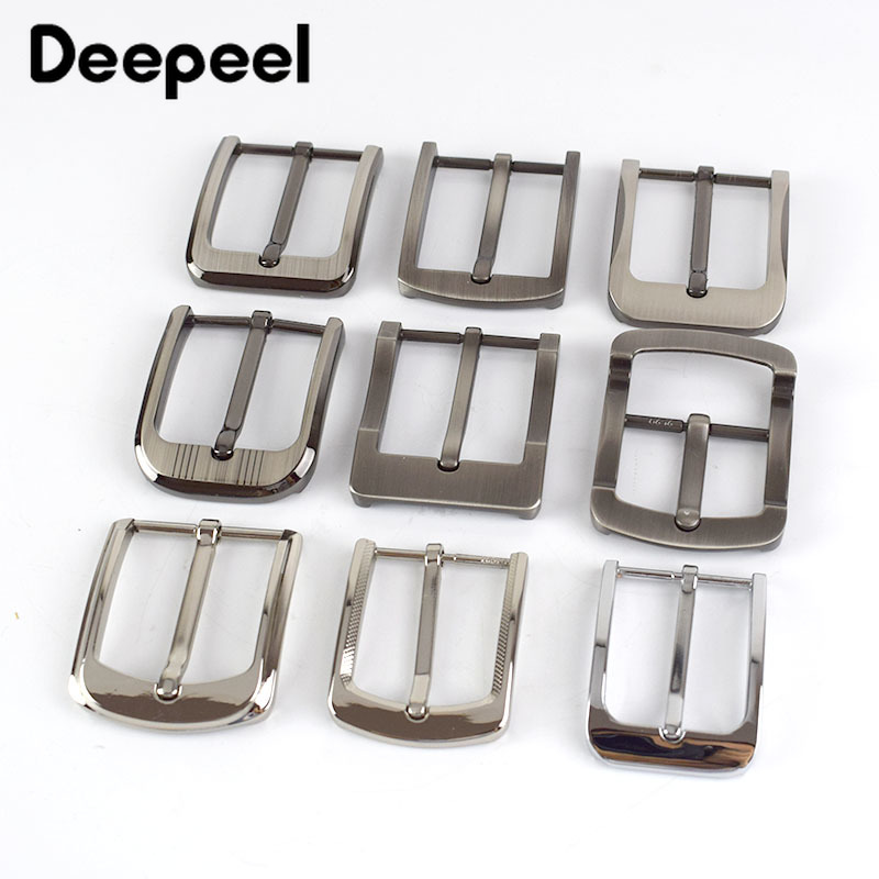 Deepeel 5pcs Metal Pin Belt Buckles For Mens Women 35/40mm Waistband Head DIY Leather Crafts Jeans Decor Hardware Accessories