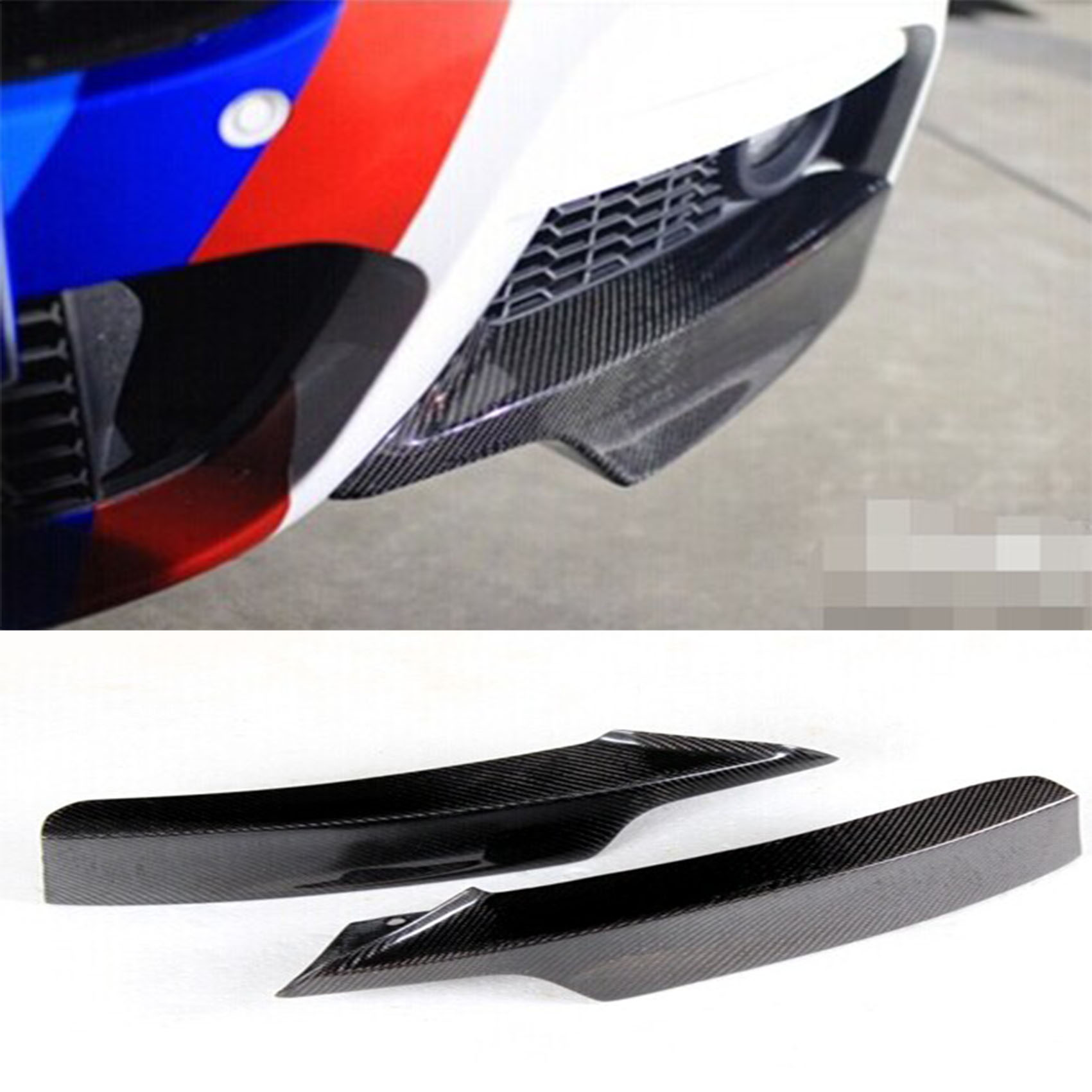 F30 M-Sport Carbon Fiber Front Bumper Splitter Aprons Cupwing Fit For BMW 3Series 2014-2015