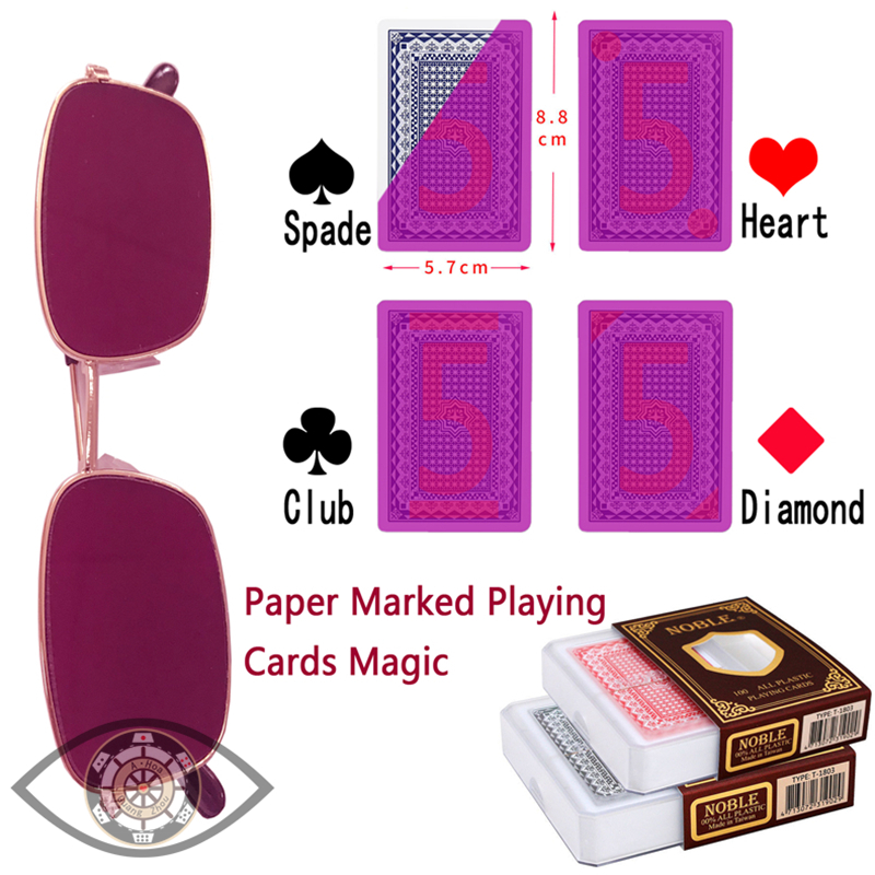 NOBLE 1803 Marked Playing Cards Magic Invisible Cards for UV Contact Lenses <font><b>Cheat</b></font> in Casino Gambling Anti Poker <font><b>Cheat</b></font> image