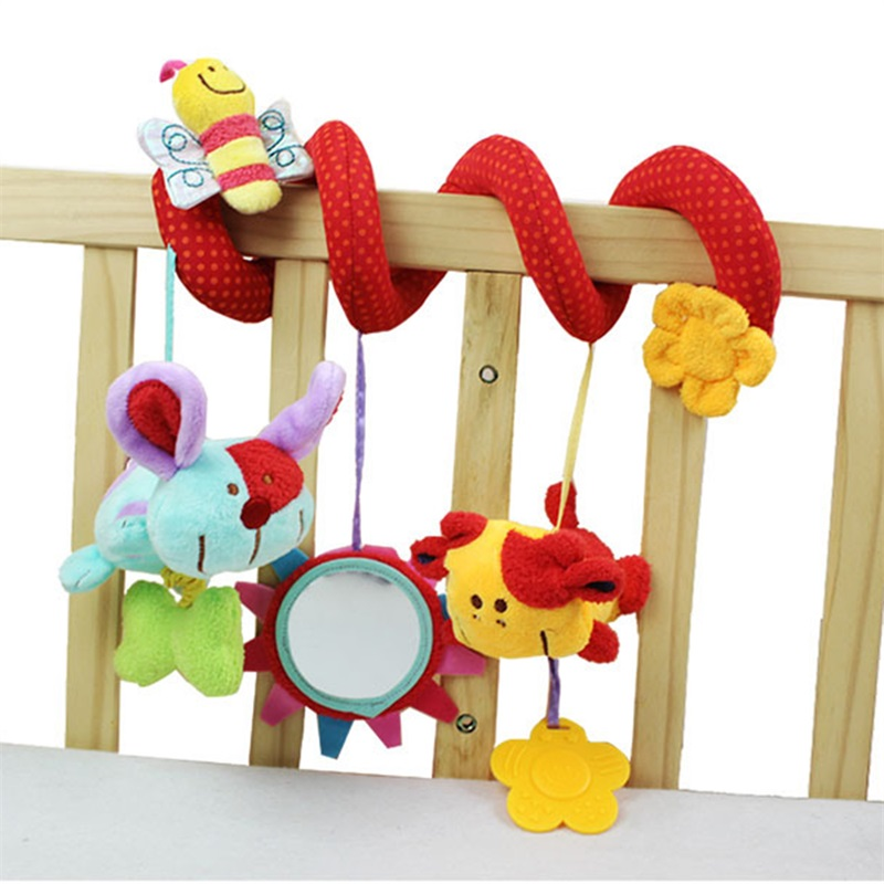 Cute Spiral Activity Stroller Car Seat Cot Lathe Hanging Baby play Travel Toys Newborn Baby Rattles Infant Toys New Arrival