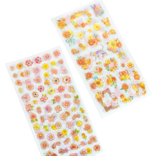 15packs/lot New Cute Hundred Flowers Cat DIY Diary Decorative Scrapbooking Stickers Label Wholesale