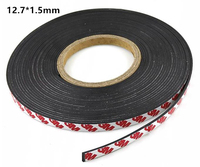 10 Meter Rubber Magnet 12.7*1.5 mm self Adhesive Flexible Magnetic Strip Rubber Magnet Tape width 12.7 mm thickness 1.5mm