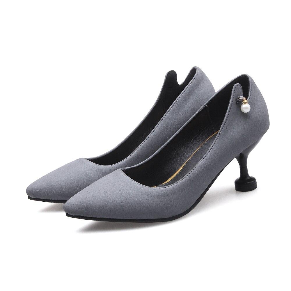Negro Boda Mujeres Moda gris Punta Sexy Plataforma 47 Estrecha 508 2017 rojo Venta Zapatos Tamaño Bombas Nueva Grande Altos Tacones 31 Señoras xYqYwHpav