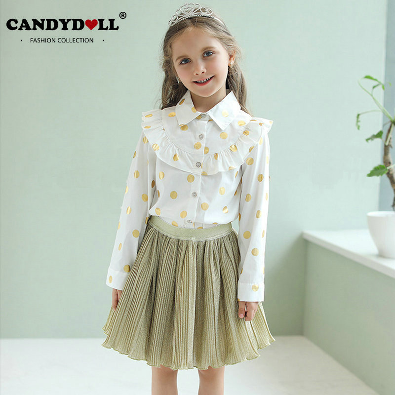 Akane Candy Dolls Illusion: CANDYDOLL Children Clothes Sets Girls Turn Down Collar
