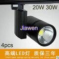 4pcs  220V 30W COB led track ligh   COB track light, clothing store track spot lighting high bright Free shipping
