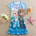 Summer Girls Elsa Dress Kids Anna elsa Cosplay Dress For Girls Clothing Cartoon Princess Dress Fashion Party Costume Nightgown