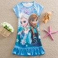 Verão Meninas Elsa Vestido Crianças Anna elsa Cosplay Vestido Para A Roupa Das Meninas Dos Desenhos Animados Vestido de Princesa Traje Do Partido Moda Camisola