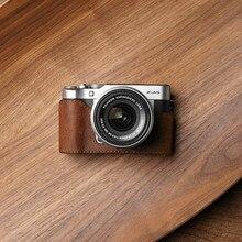 Mr. камень из брендовой натуральной кожи половина тела ручной работы Нижняя крышка Камера чехол для Fujifilm XA5 FUJI X-A5