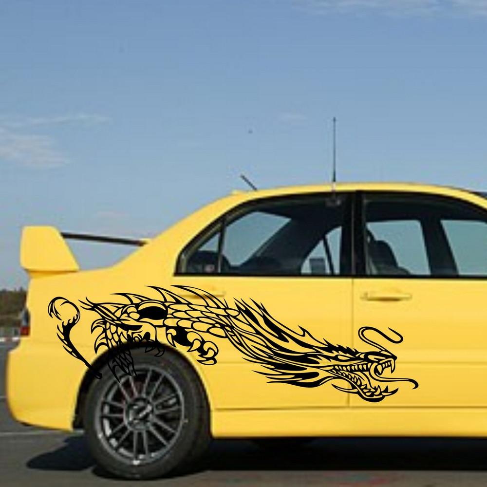 Car tribal dragon stripe 72 5 door decal for evo vinyl graphics side decor stickers zc166