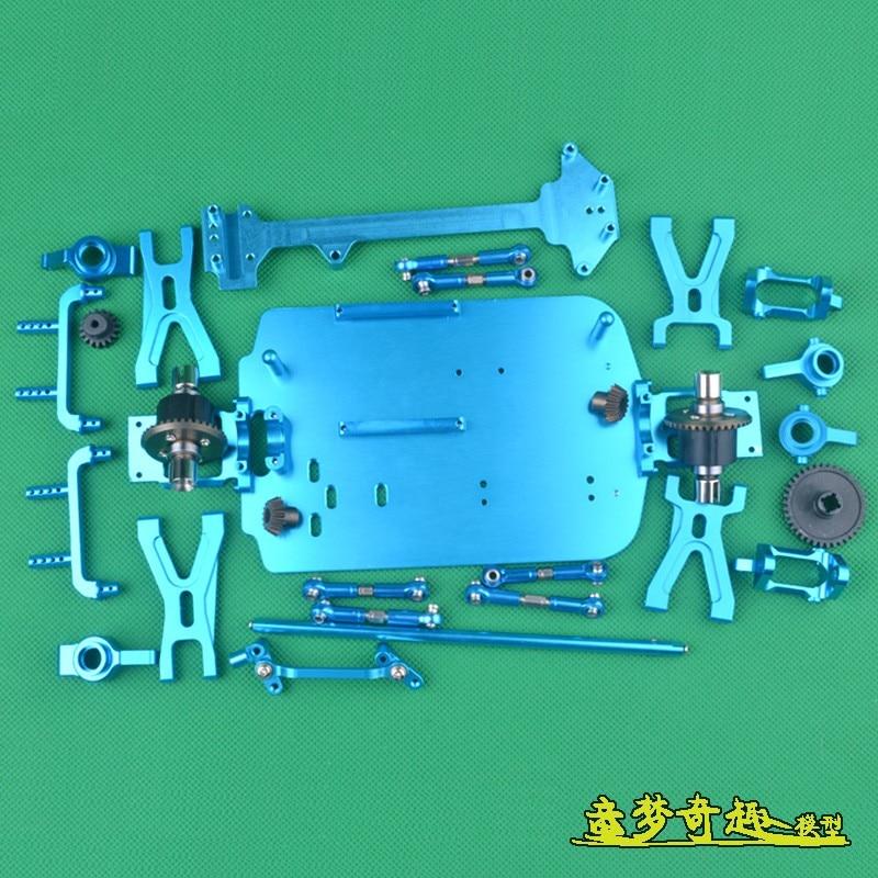 Wltoys A949 A959 A969 a979-b, piezas de repuesto de actualización piezas de Metal, dirección del chasis, equipamiento de brazo, palancas, etc. Drone 22 en 1, accesorios prácticos para Hobby, simulador RC de fácil instalación, juguete libre con Cable USB para RealFlight G7