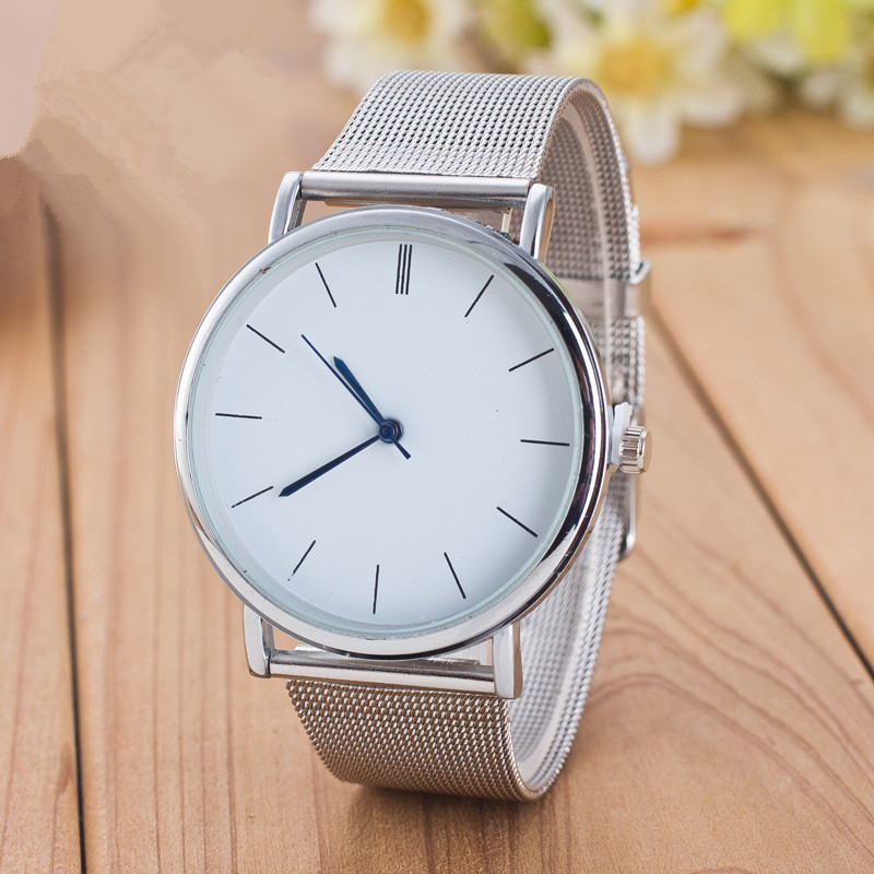 2018 New Top Luxury Women Watches Men Watch Brand Ultra Thin Stainless Steel Mesh Band Quartz Wristwatch Fashion Casual Watches