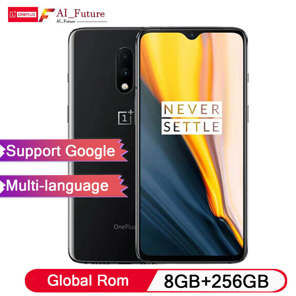 Global Rom OnePlus 7 8 GB de RAM 256 GB ROM Smartphone Snapdragon 855 Núcleo octa 6.41 polegada Display Digital 48MP + 16MP Dual Câmeras