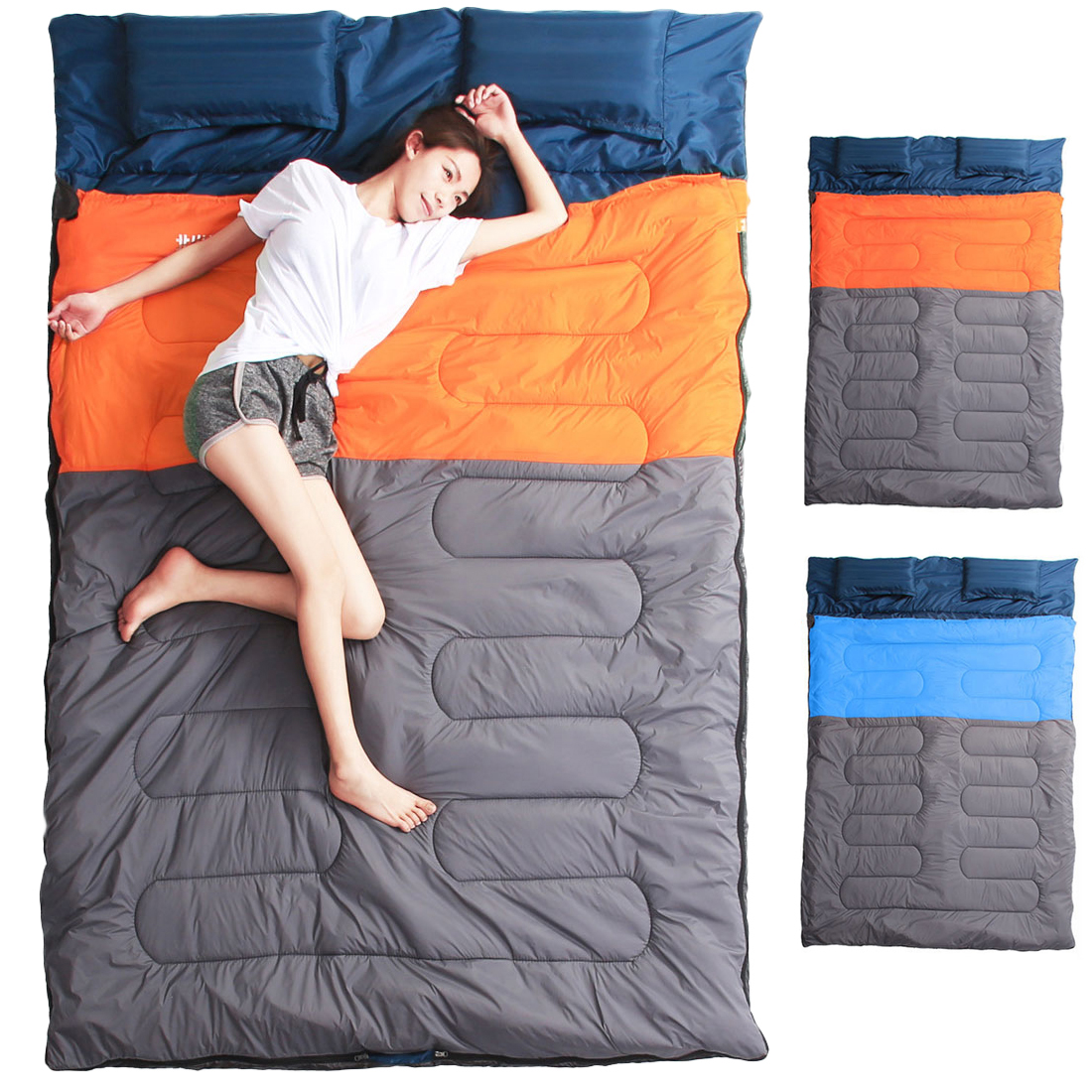 S Double Sleeping Bags Outdoor Camping Hiking