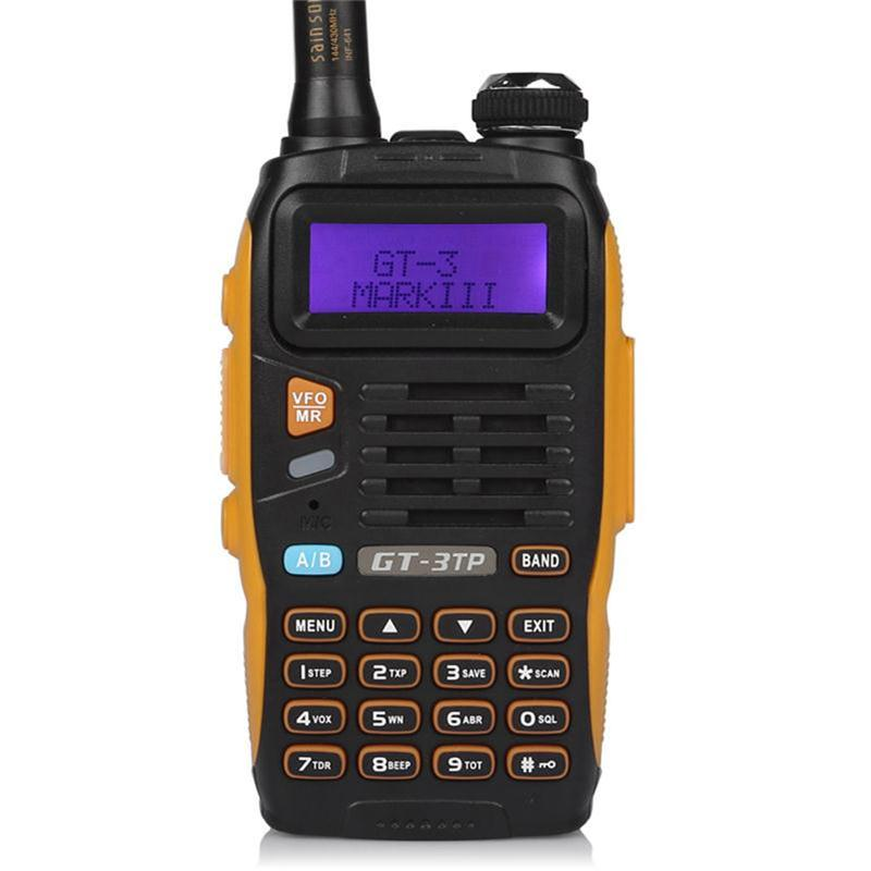 Baofeng GT-3TP MarkIII TP 1/4/8Watt High Power Dual-Band 136-174/400-520MHz Ham Two-way Radio Walkie Talkie + Car Charger