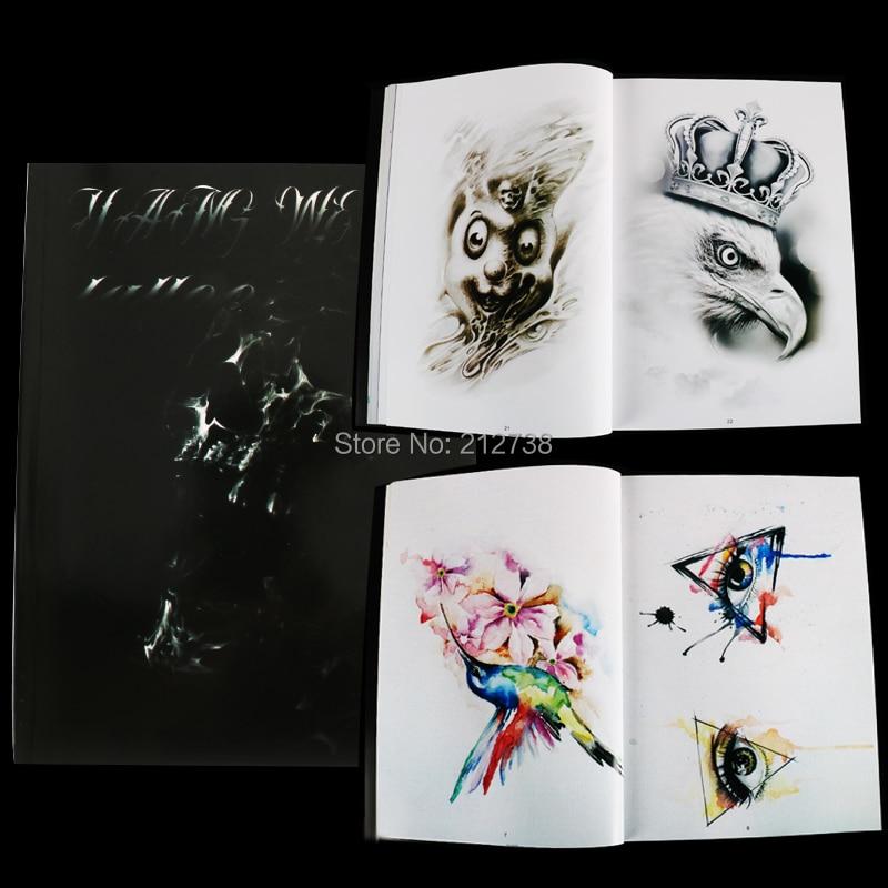 2018 Newest Original Yangwen Tattoo Manuscript A4size 50 Pages Sketch Manuscript Tattoo Book Eyes Feathers  Death  Buddha
