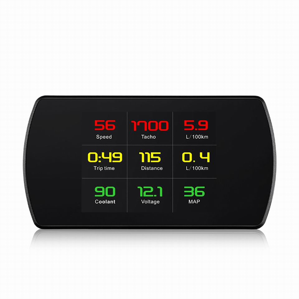 4 3 HD TFT OBD Computer Display Hud Head Up Display Turbo Boost Gauge RPM Tachometer