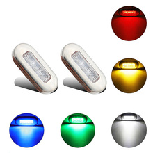 1Pair Stainless Steel LED Navigation Lights Signal Warning Lamp for 12V Marine Boat Yacht