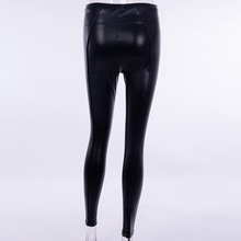 Women Sexy Black PU leather Leggings  Booty Leggings Push Up Faux Leather Pants Latex Rubber Pants Jeggings
