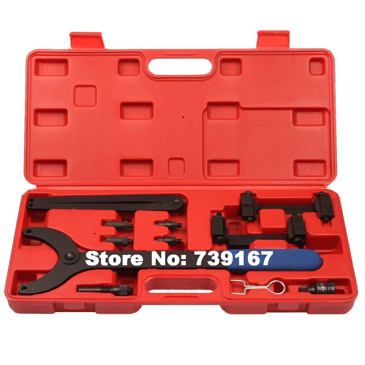 Auto Engine Timing Camshaft Locking Alignment Removal Repair Garage Tools For Audi A2 A3 A4 A6 A8 2.4/3.2L V6 FSI ST0169 camshaft pulley wrench holder for subaru forester 3pcs set engine timing belt remove and install repair toolkit