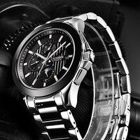 CADISEN Mens Watches Luxury Brand Automatic Mechanical Watch Men Full Steel Business Waterproof Sport Watches Relogio Masculino Mechanical Watches