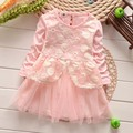 2017 New Girls Dress Flower Lace Dance Party Pageant Spring  Baby Kids Clothing