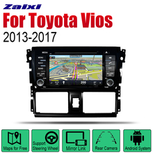 ZaiXi Android 2 Din Auto Radio DVD For Toyota Vios 2013~2017 Car Multimedia Player GPS Navigation System Radio Stereo цена
