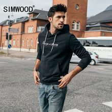 SIMWOOD 2019 spring New Hoodies Men Slim Fit Vintage Letter Fashion Hip Hop Sweatshirts Plus Size High Quality Clothes 180333(China)