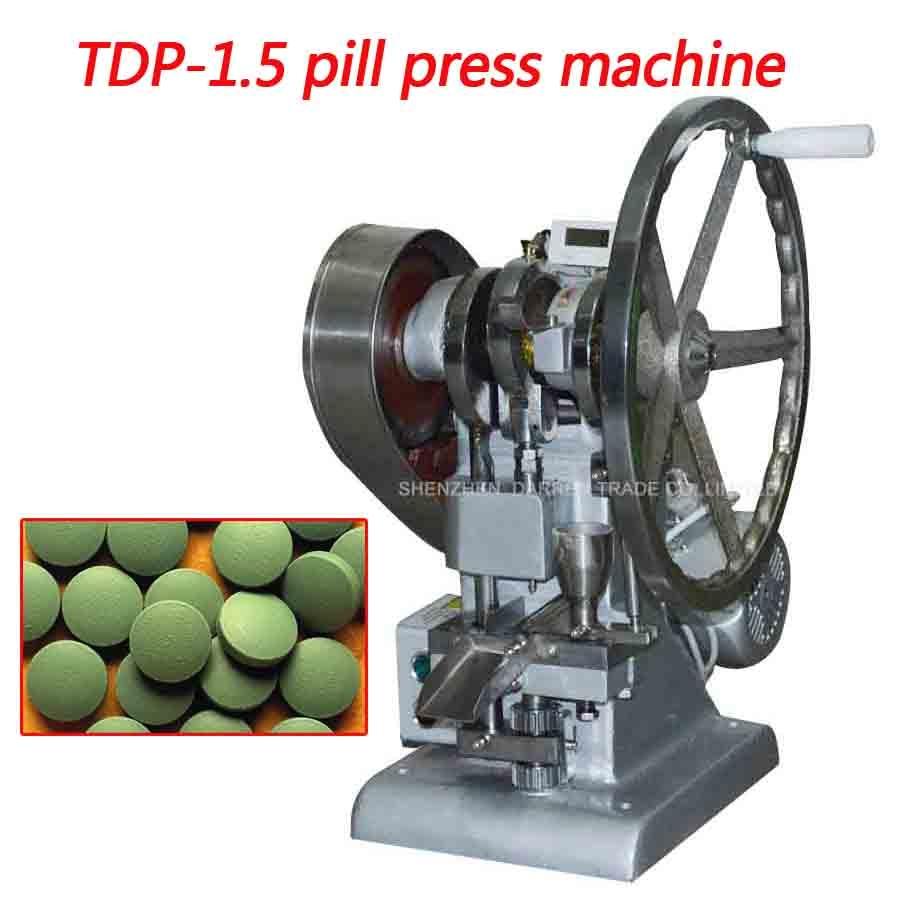 1 шт. таблеточный пресс с одним пробиванием, машина для прессования таблеток, TDP-1.5, изготовление таблеток, таблеток