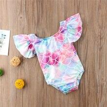 Crianças quentes do bebê recém-nascido meninas bonito tankini 2019 babados sem costas beachwear bodysuits infantil um pedaço maiô