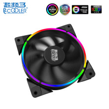 PCCOOLER 120mm CPU AURA RGB Cooling Fan PC Case Cooler 4 Pin PWM Ultra Quiet LED Adjustable for Computer Fans