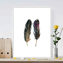 Nordic Feather DecorationWall Art Canvas Poster and Print Painting Decorative Picture for Living Room Home Decor 30x40 cm